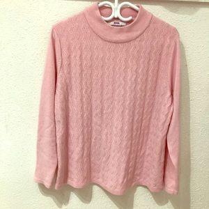 Fuzzy Soft Pink Sweater